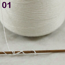 Sale NEW Luxurious100g Mongolian Pure Cashmere Hand Knitting Cone Yarn 01 White