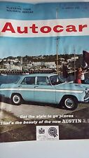 Autocar Magazine  12/1/62  Road Test Wolseley 16/60 Boat Show Earls Court Advert
