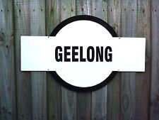 Geelong Enamel Footy Sign, House, Garage, Bar, Club Cafe Nameplate Mancave Gift