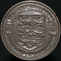 1926 | Jersey George V One Twelfth Of A Shilling | Bronze | Coins | KM Coins
