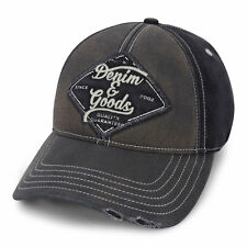 0e7efe797f2 TRUE RELIGION Denim   Goods Baseball Cap Black TR2310