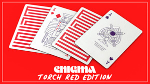 Torch Red Enigma Playing Cards Rare Limited illusion Cardistry not Bicycle