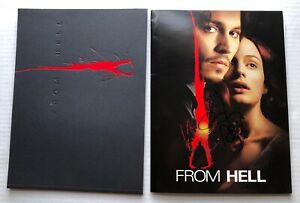 JOHNNY DEPP Autographed FROM 2001 Promo PRESS KIT + Deluxe Photo Book HORROR
