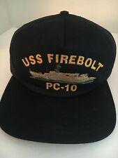 """U S Navy Cap """"Uss Firebolt """" Pc-10"""