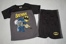 Boys Batman Outfit Athletic T-Shirt & Shorts Black Gray Size 4