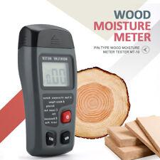MT-10 Wood Moisture Meter Humidity LCD Tester Timber Damp Detector Hygrometer