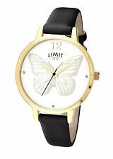 Ladies Limit Secret Garden 3D Butterfly White Dial Watch Black Strap 6283