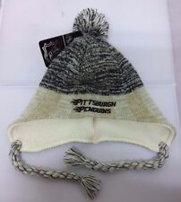 Pittsburgh Penguins NHL Reebok Fitted Knit Peruvian Beanie Hat Skull Cap NWT