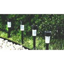 Set of 5 or 7 Solar Light Pathway Outdoor Lawn Decoration Warm White - 6 Pack
