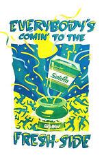 1992 Salem Cigarettes Tobacco Fresh Side Graphic Advertising T-Shirt Size Xl