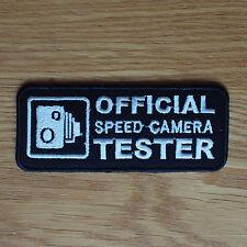 Paño de MOTOCICLISTA PATCH BADGE cueros Probador de cámara de velocidad del dril de algodón abrigo de la cintura