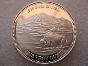 1 OZ .999 SILVER 1988 BUFFALO EAGLE STURGIS MOTORCYCLE-HARLEY RALLY COIN + GOLD