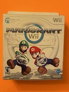 🔥 NINTENDO Wii 🔥 💯COMPLETE WORKING GAME CIB - MARIO KART + WHEEL - SUPER FUN