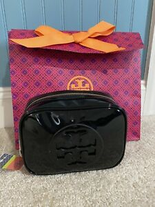 ❤️ NWT Tory Burch Stacked Patent Small Cosmetic Case in Black
