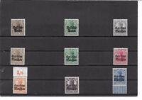 Deutsche Besetzung WK I, Post in Polen, Auswahl Einzelmarken, postfrisch **