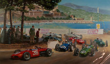 Stirling's Greatest Drive 1961 Monaco Grand Prix Edition Print by Tony Smith