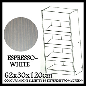 FAZT FURNITURE BOOKSHELF BOOKCASE SHOE RACK MODERN DESIGN ESPRESSO-WHITE SC-4207