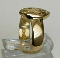 """Antique 18ct solid gold """"HM"""" Initial Ring C1906 / 3.57g size K 1/4 -  5 1/4"""