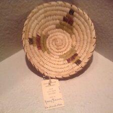 "Vintage Basket Papago New Old Stock 9.5"" In Diameter 3"" High By Nancy Ramon"