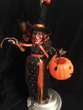 """SPECIAL EDITION RED-HEAD HALLOWEEN 6-12"""" WITCH 2"""" PLASTIC JACK-O HANGING/SITTING"""