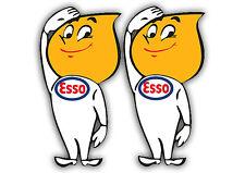 Esso fire Boy x2  Car Sticker size 14cm x 7cm