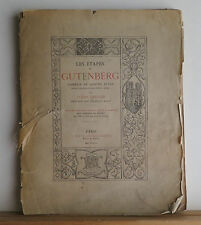 Les Etapes de Gutenberg 1889 Leriche SIGNED w/Letter French Play Printing