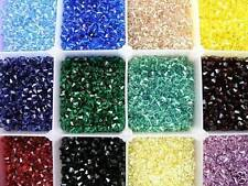 150 PIECES GENUINE SWAROVSKI 6MM 5328 / 5301 XILION BICONE CRYSTAL BEADS - U PIC