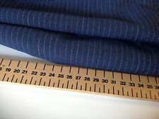 "NEW Designer Japanese Blue Pin Stripe Suiting FABRIC 60""153cm Trouser Suit Cloth"