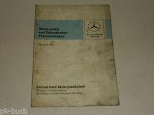 Faltblatt Winterreifen und Schneeketten Mercedes Benz Personenwagen PKW, 10/1970