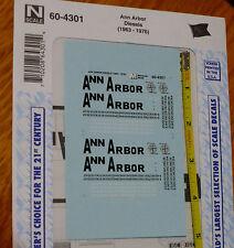 Microscale Decal N  #60-4301 Ann Arbor Diesel - Hood Dates:1963-76