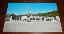 Vintage Postcard Smithville WV Gas Station Esso 1960s