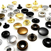 10 12.5 15mm Brass Poppers Snap fastener Press stud Sewing Leather craft Clothes