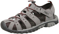 Mens New Grey Closed Toe Walking Trail Holiday Beach Sandals Size 7 8 9 10 11 12