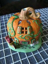 PartyLite Pumpkin Patch Village House Tea Light Holder P7303 Euc