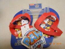 New cute Paw Patrol toddler size 3/4 flipflops sandals shoes w/ back strap red