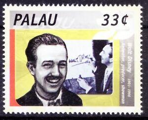 Palau 2000 MNH, Walt Disney Cartoons, Animator Producer, Signature