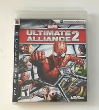 SONY PlayStation 3 PS3 Marvel: Ultimate Alliance 2 W/ Comic Book (COMPLETE)