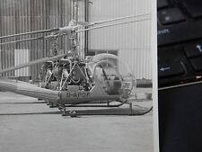 HILLER AIRCRAFT AUTHENTIC  VINTAGE PHOTOGRAPH  195os era  HELICOPTER GAPOF