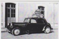 carte postale - citroen traction 1955 - pub MOTUL - TDF - tour de france