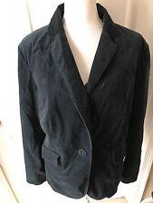Talbots Woman 18W Blazer Jacket Velvet Teal Jade Green Lined One Button Stretch