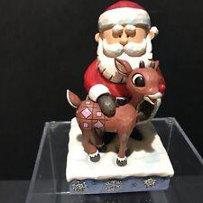 Jim Shore Rudolph Red Nose Reindeer Santa Hugging Rudolph Figurine 6001590