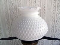 ***** VINTAGE GONE WITH THE WIND MILK GLASS HOBNAIL HURRICANE LAMP SHADE #17 ***