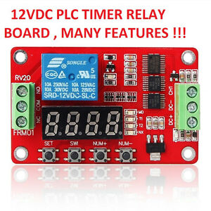 USA! 1 PC 12 VDC PLC CYCLE TIMER MULTIFUNCTION DELAY MODULE MANY SETTINGS !!