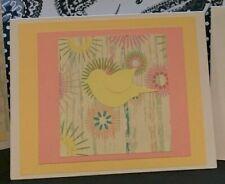 Homemade song bird note cards wedding party birthday
