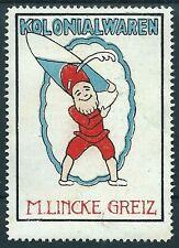 Reklamemarke / Werbemarke GREIZ, M. Lincke, Kolonialwaren (#26033)