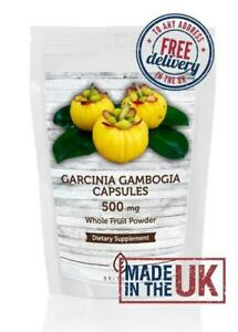 Garcinia Cambogia Whole Fruit Powder 500mg 120 Capsules ✔Letterbox Friendly