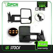 For 1988-1998 C/K 1500 2500 3500 L+R Power Signal Lamps Black Side Mirrors