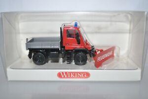 Wiking 0646 04 Fire Dept Unimog w/Snow Plow (FEUERWEHR) for Marklin - NEW w/BOX