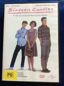 Sixteen Candles - Region 4 DVD - Excellent Condition - Molly Ringwood -FREE POST