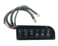 Edge Water Boats - Marine 6 Red Lighted Switch Panel 84-3311